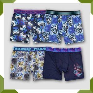 Boys' Star Wars 4 pack Boxer Briefs size 10